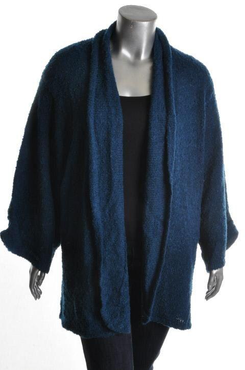 Karen Scott New Blue Boucle Long Sleeve Cardigan Sweater Plus 3X BHFO