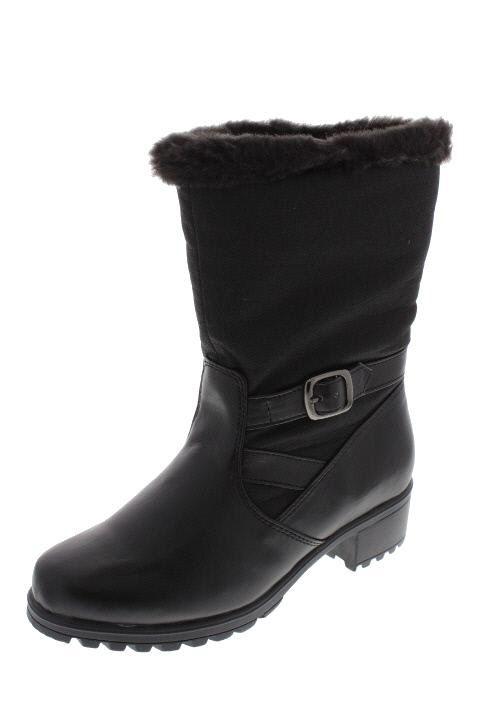 Khombu New Mardi Gras Black Faux Fur Lined Waterproof Snow Boots Shoes