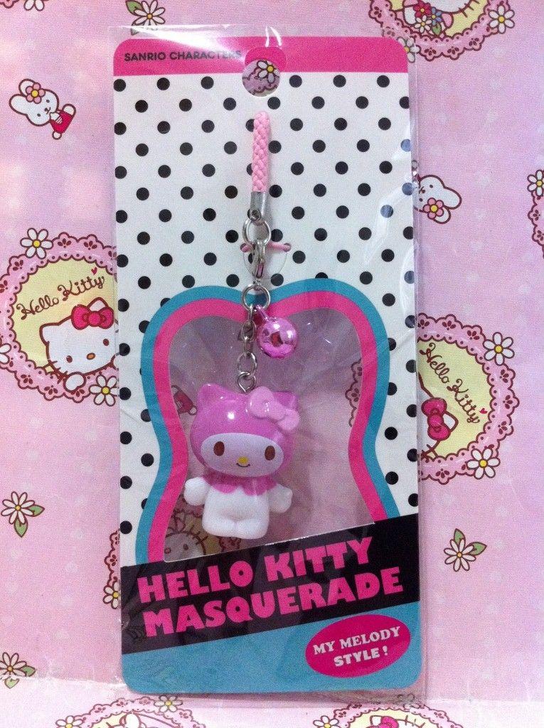 Sanrio Hello Kitty x My Melody Masquerade Mobile Cell Phone Strap