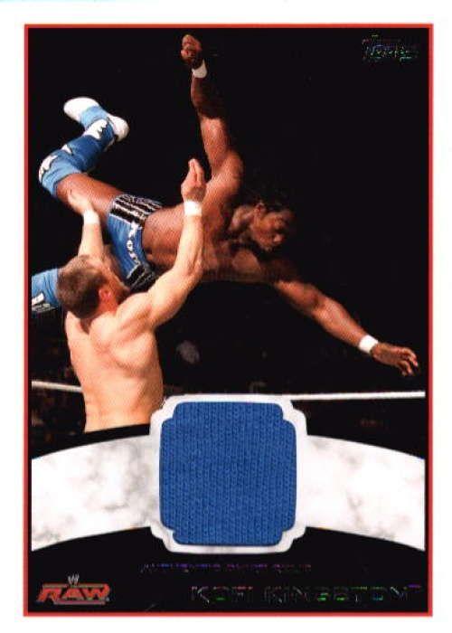 Kofi Kingston 2012 Topps WWE Raw Event Worn Shirt Relic N7499