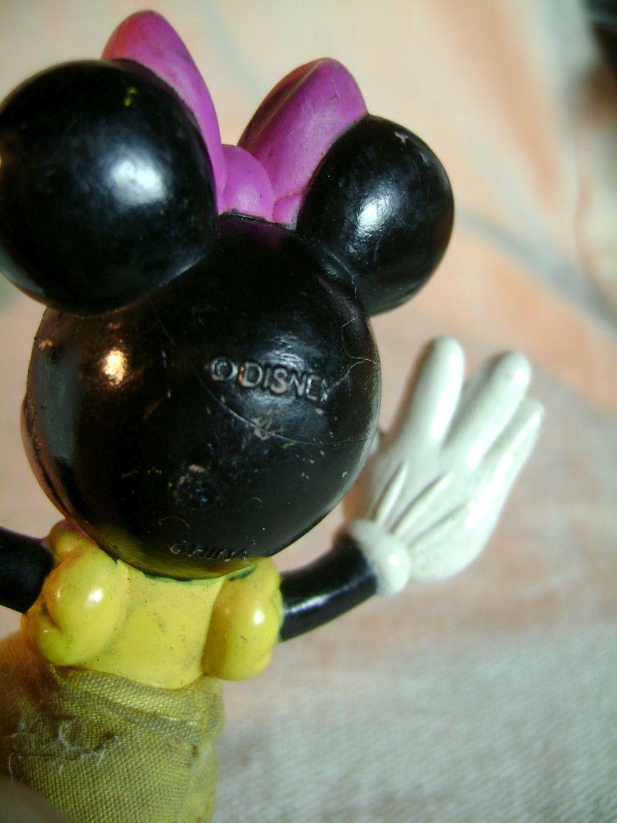 Disney Farmer Mickey Minnie Mouse PVC Figure Lot Cloth Skirt Overalls