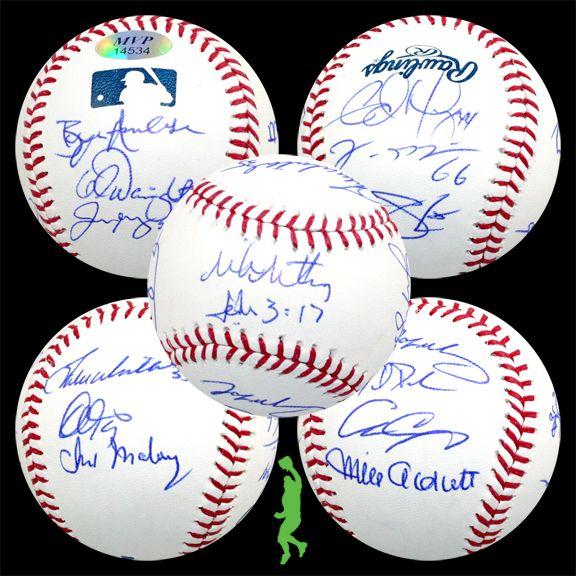 2012 ST. LOUIS CARDINALS TEAM SIGNED ROMLB BASEBALL BALL CHRIS