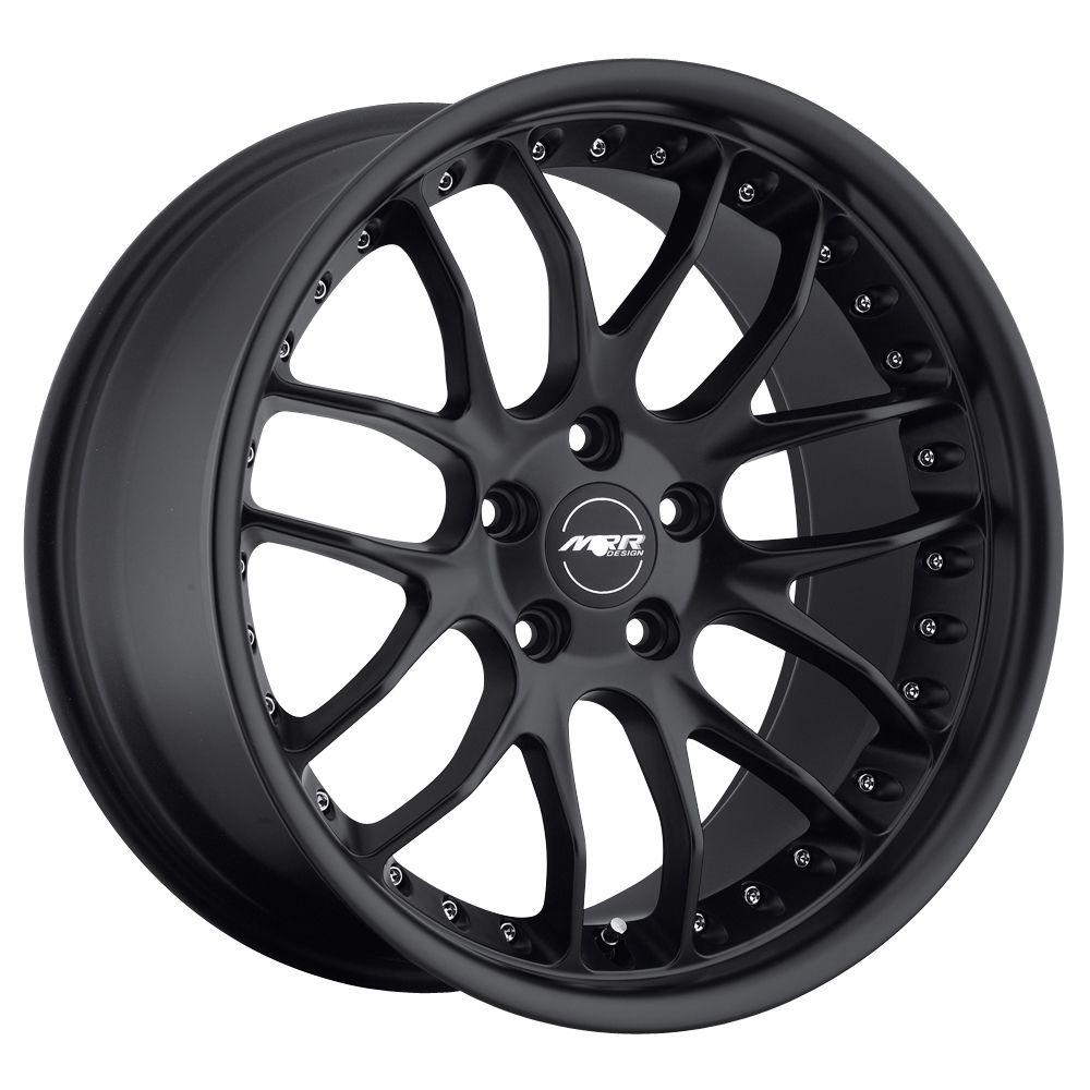 MRR GT7 MATTE BLACK Wheels Rims Fit MERCEDES CLK W208 W209 (1996 2009