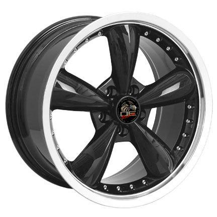 20 8 5 10 Black Bullitt Wheels Bullet Rims Fit Mustang® GT 94 04