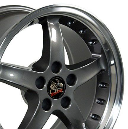 17 9 10 5 Anthracite Cobra Wheels Rims Fit Mustang® 94 04