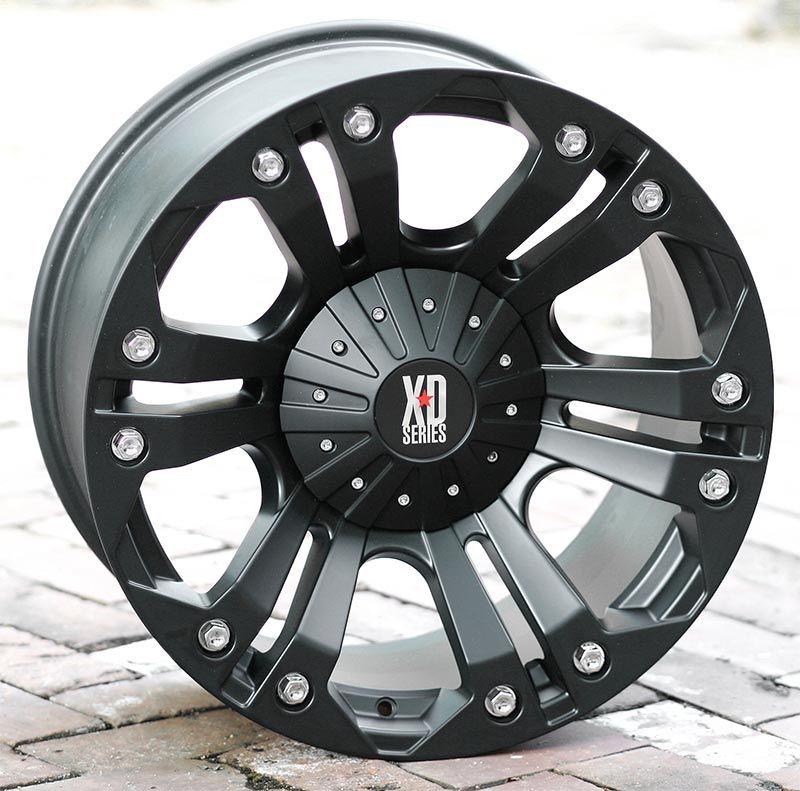 18 inch Black Wheels Rims KMC XD 778 Ford F250 350 Superduty 8 Lug