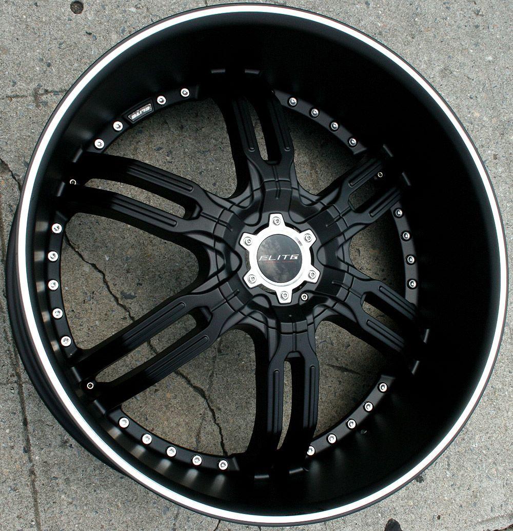 Elite Carnal W113 26 Black Rims Wheels GMC Envoy 6x127 Rainier 26 x 9