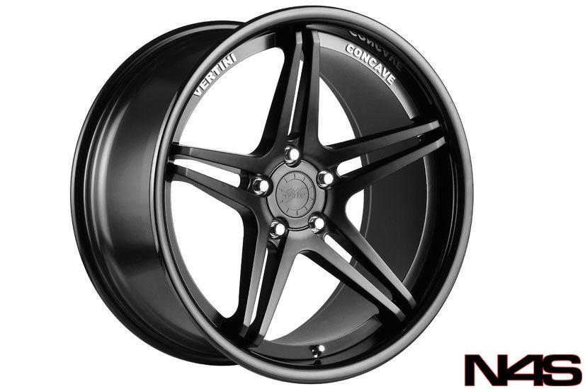 Sedan Vertini Monaco Concave Matte Black Staggered Wheels Rims