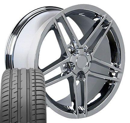 17 18 9 5 10 5 Chrome Corvette C6 Z06 Wheels Conti Tires Rims Fit