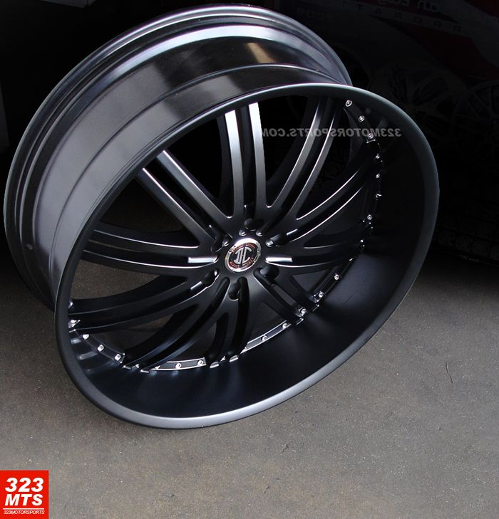 24 inch Rims Wheels 2CRAVE 11 Wheels Chevy GMC Yukon Cadillac Wheels