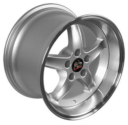 17 9 10 5 Silver Cobra Wheels Rims Fit Mustang® GT 94 04