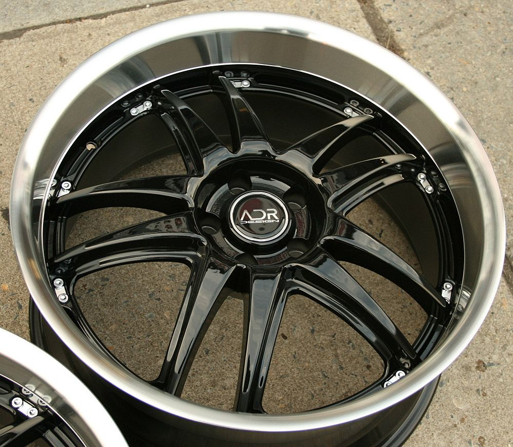 Decadence 20 Glossy Black Rims Wheels Lexus LS430 Staggered