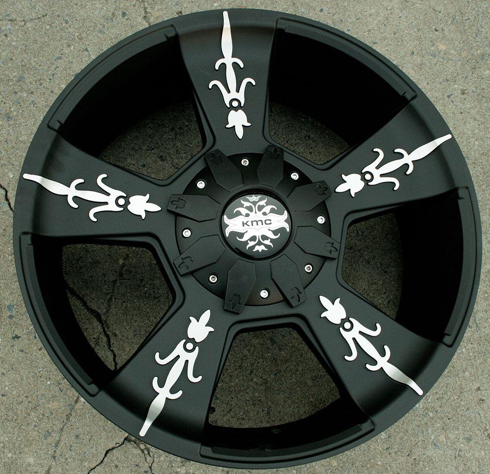 KMC Vandal 668 22 Black Rims Wheels GMC Yukon Denali XL 07 Up 22 x 9