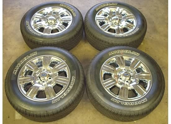 18 Ford F 150 WHEELS Rims CHROME Tires OEM Lariat XLT 09 11 10 F150
