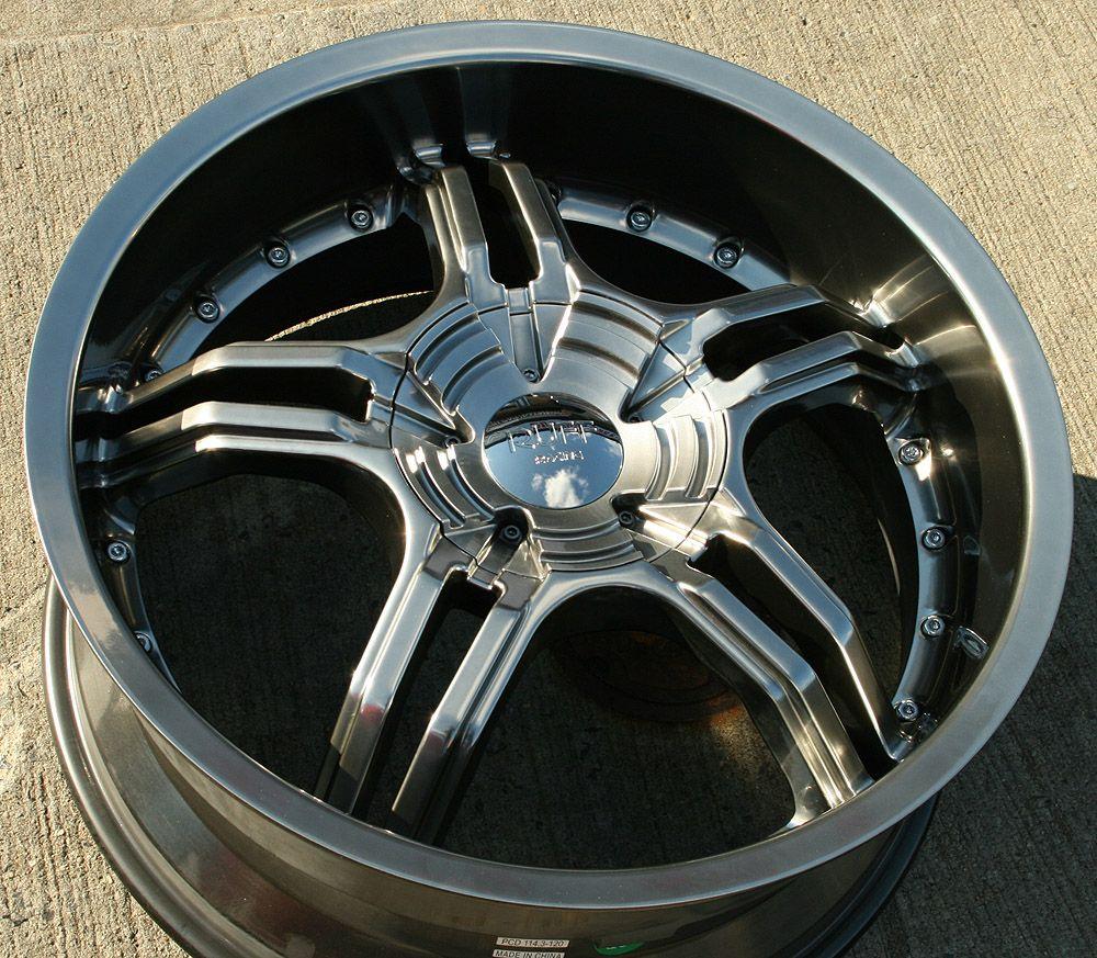 Ruff Racing 930 20 Hyper Black Rims Wheels Explorer Sport Trac