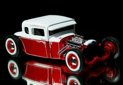 1929 Ford Model A Hot Rod Maisto Diecast 1 24 Redwhite