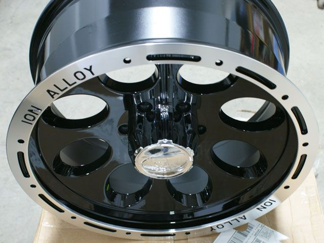 16 ion Alloy 174 Black Ford Chevy Wheels Rims Beadlock