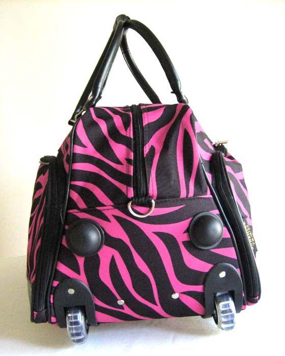 20 Duffel Tote Bag Rolling Luggage Case Wheel Purse Carryon Pink