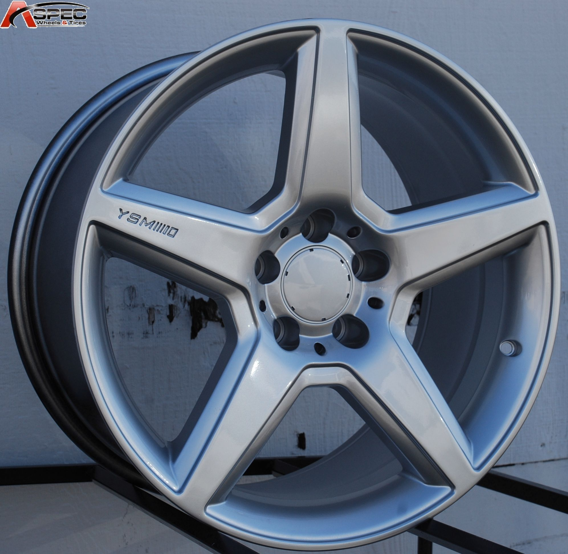 18 Mercedes AMG Style Staggered Silver Wheel Fit E Class E230 E320