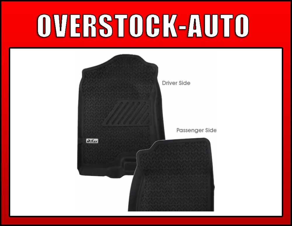 Bully Molded Floor Mat Front Liners Black 2007 2011 Chevy GMC