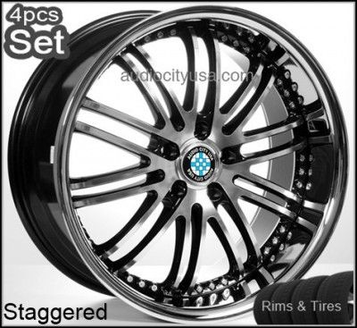 20 inch for BMW Wheels and Tires 5 Series M5 Staggered Rims