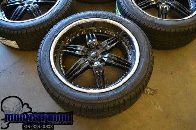 22 FOOSE DF 6 Black Chrome Wheels Rims Ford F150 Expedition Pirelli
