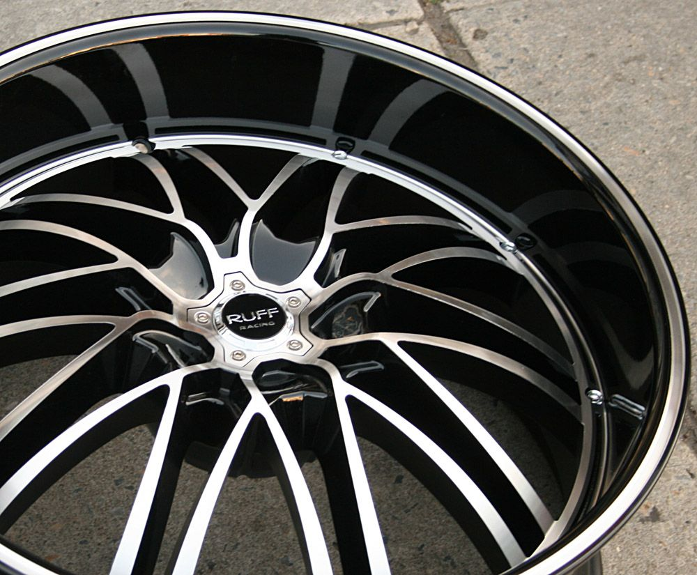 Ruff Racing 947 22 Black Rims Wheels Maxima Staggered 22 x 9 0 10 5H