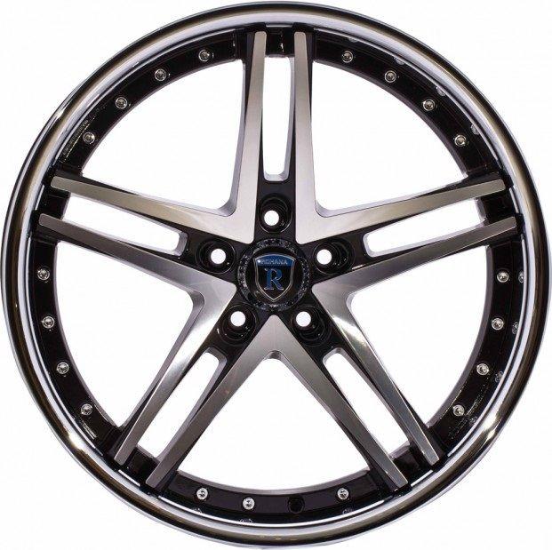 20 Rohana RC5 Black Machined Wheels Rims Fits Nissan 370Z 350Z