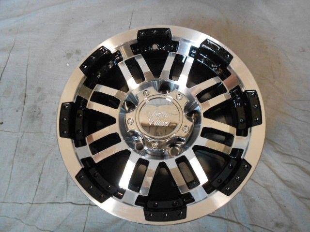 5x139.7 5 139.7 Warrior   375 Gloss Black Machined Face Wheels/Rims