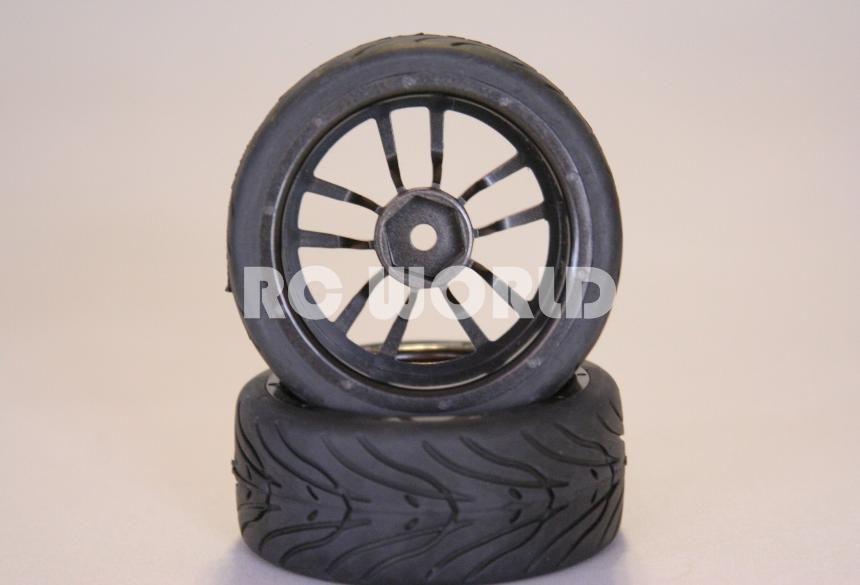 RC 1 10 Car Tires Gold Wheels Rims Package Kyosho Tamiya HPI