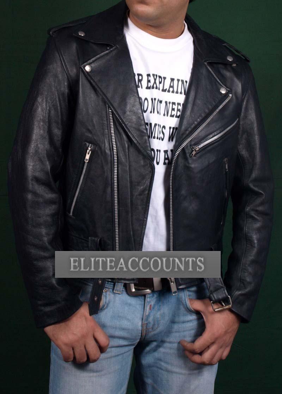 GHOST RIDER Nicolas Cage Lederjacke Leder Jacke Motorrad Biker