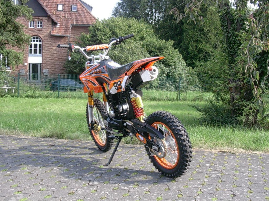 dirt bike 125 ccm 17 14 r der cross vollcross pocketbike pit enduro. Black Bedroom Furniture Sets. Home Design Ideas