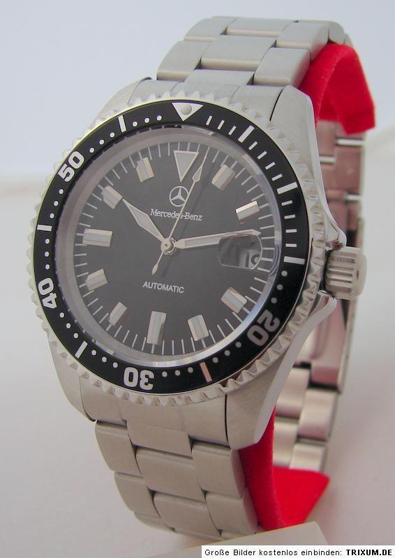 Mercedes Benz Automatic Edelstahl Uhr men gents wrist watch diver