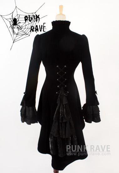 punk rave rock visual kei cosplay gothic jacket coat Japan fashion