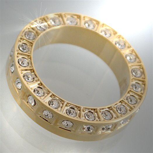 R443/17* Neu LUXUS Damen Ring Goldring Strass Gold Schmuck