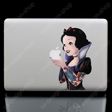 Goth Princess Snow White Sticker Vinyl Decal for Apple Macbook Pro Air
