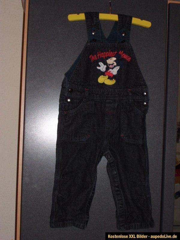 Jeans Latzhose schwarz Disney C&A Mickey Mouse Micky Maus Gr. 86