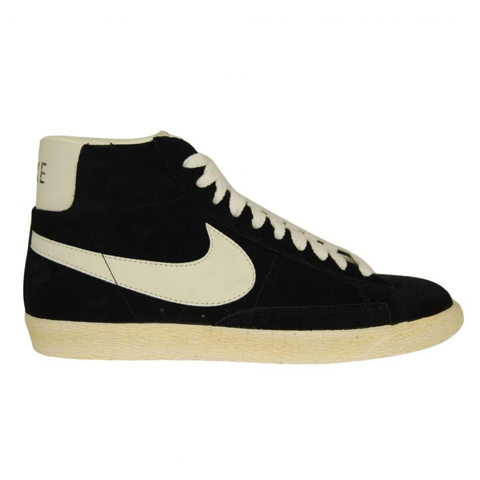 Mens Nike Blazer High Vintage Black Shoe Trainer (375722_001)