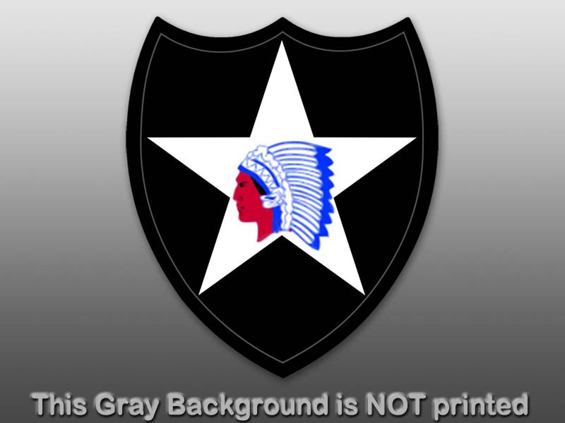 2nd Infantry Division Seal Sticker  decal indianhead US