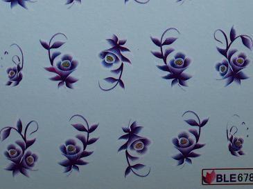 Nail Art Sticker Tattoo One Stroke BLE 678 lila