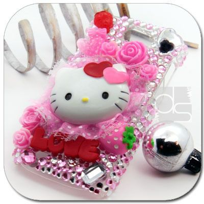 Hello Kitty Bling Hard Skin Cover Case T mobile Samsung Exhibit II 2