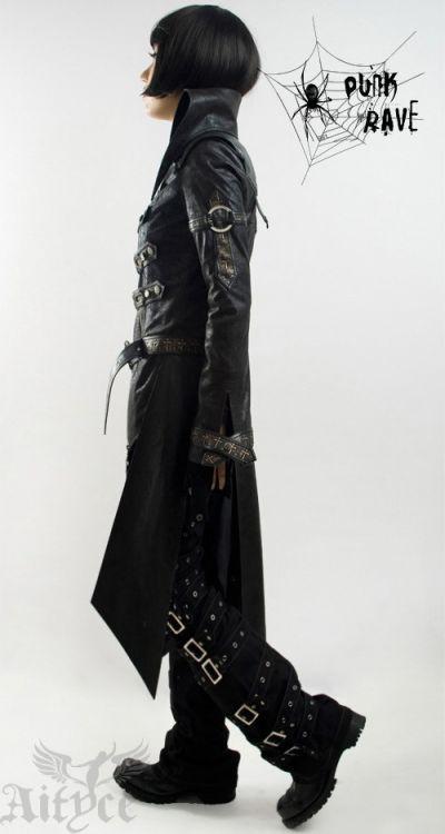Unisex Punk Rave Mantel Jacke Visual Kei Rock Gothic Jacket lang