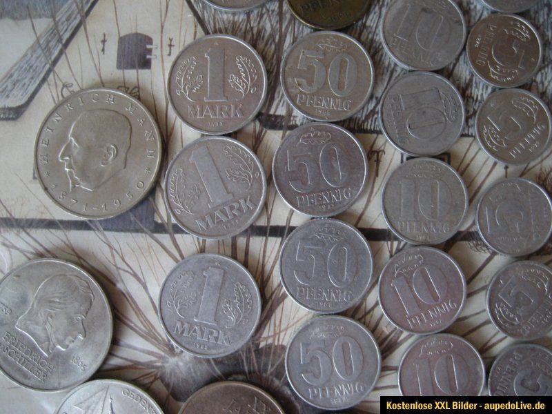 Lot Ddr über 80 Münzen Von 1 Pfennig Bis 20 Mark Von 1948 Bis1989 1
