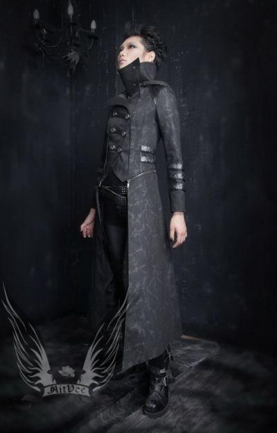 Visual Kei Punk Rave Rock Gothic Leder Schwarz Jacket Vampir