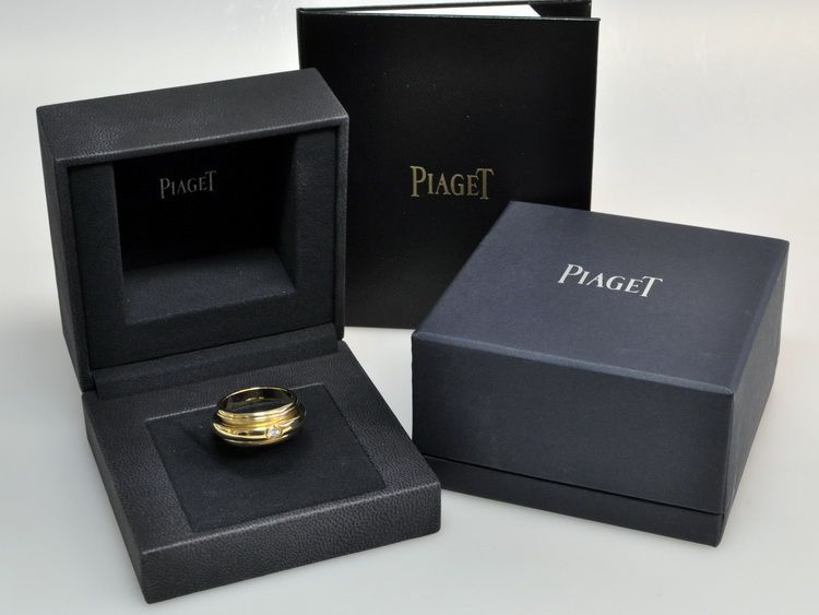 PIAGET POSSESSION CLASSIQUE DREH RING 750 GOLD & 0,15ct