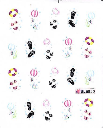 Nail Art Sticker Tattoo One Stroke BLE 950