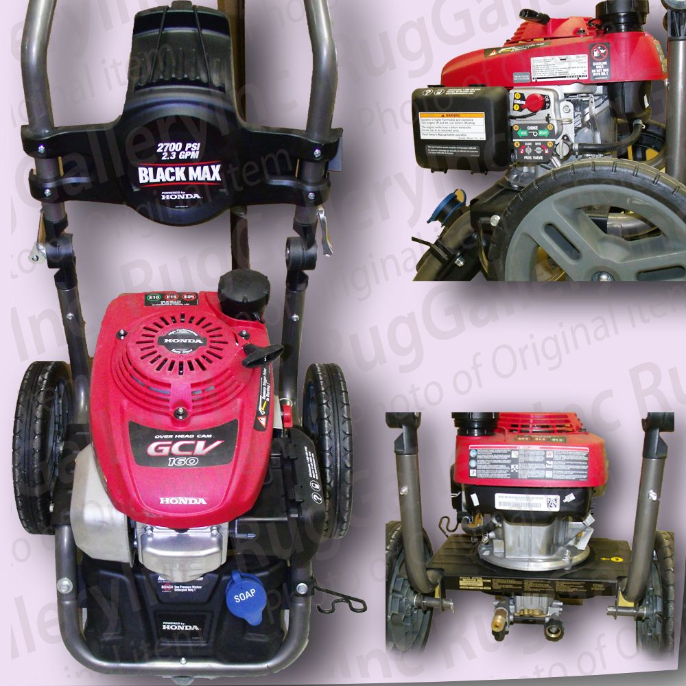 Black Max 2 700 Psi Gcv160 Honda Gas Engine Power Water